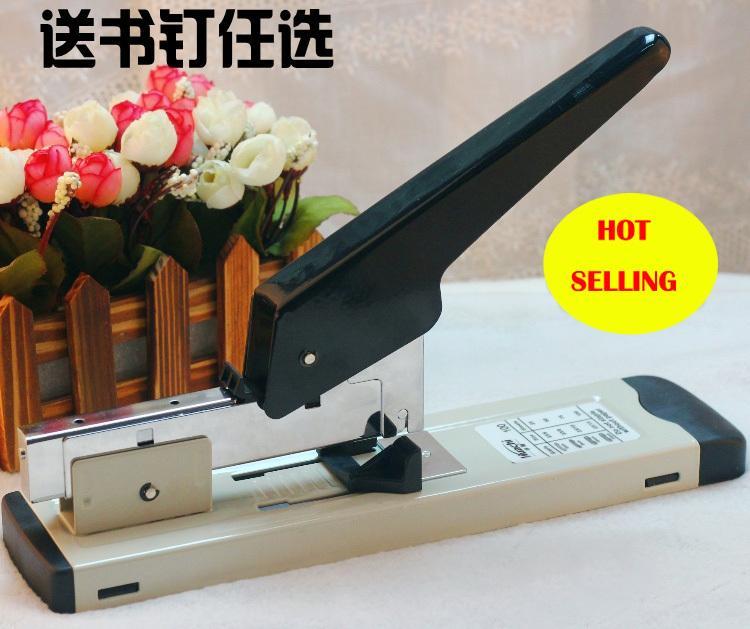 Frete grátis pesados grampeador com grampos grampeamento de 120 folhas