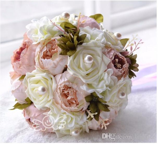 Vintage Pristian Zouboutin Artificial Bridal Flower Wedding Bouquet ...