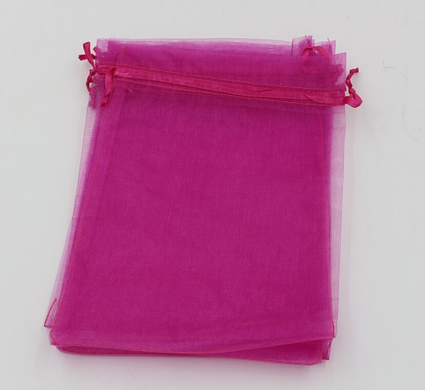 Горячее продавать! Мешки мешка подарка ювелирных изделий Organza подняли красные для благосклонности венчания, шариков, ювелирных изделий 7x9cm 9X11cm 13 x 18 .17x23cm. 20x30см 316