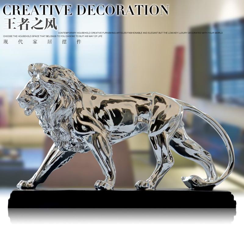 Modern Living Room Home Decor Animal Lion Figurine Office Desk ...