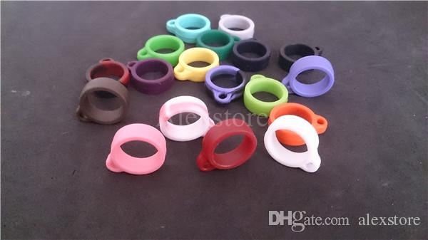 Silicone lanyard O-rings ego Silicon orings necklace colorful o ring clips lanyard for e cig vision spinner ego evod battery vape pen DHL