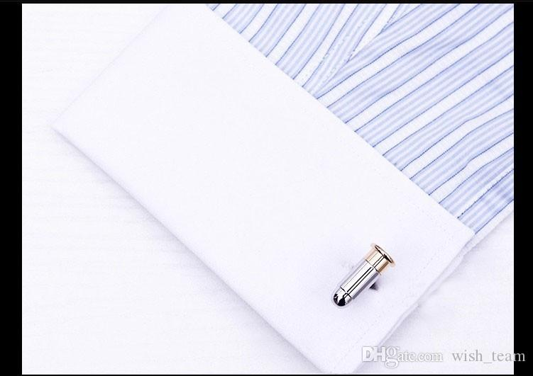 Высокое качество уникальный пуля запонки эмаль из нержавеющей стали мода бизнес свадьбы запонки высший сорт Подарок W130