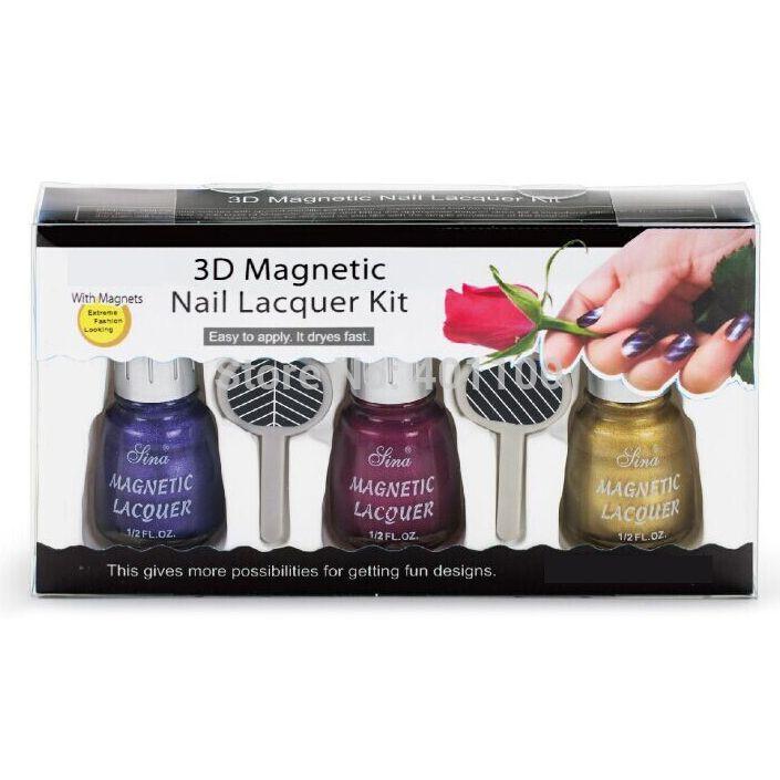3d De Uñas Laca Magnético Set es Esmalte De Uñas Magnético Con ...