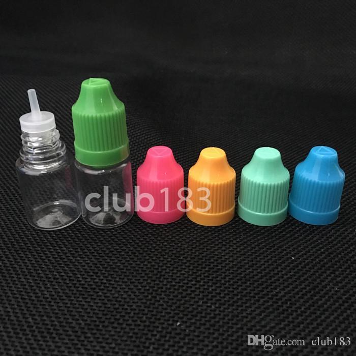 긴 얇은 팁과 아이 증거 모자 도매 E-주스 E-액체 스포이드 바늘 병 5ml를 가진 5ml의 플라스틱 PET 눈 점 적기 병