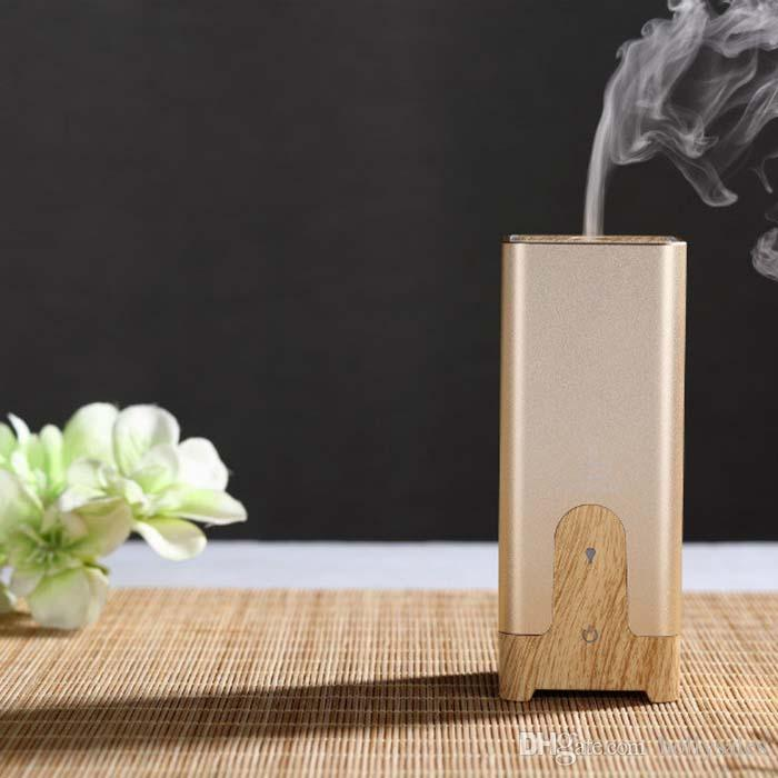 New design hot selling 3 kinds aroma diffuser for car with gold black and sliver colors with retail box DHL