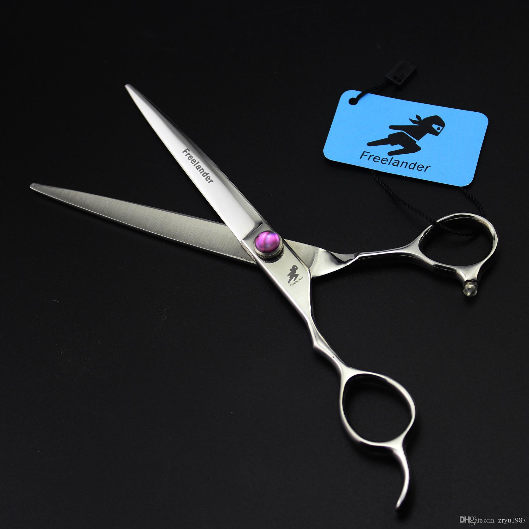 7 inch Japan 440C Left hand Hair Cutting Scissors Hair Shears Barber Scissors Hairdressing Scissors with case