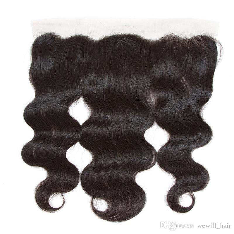 Brazilian Peruvian Malaysian Indian Body Wave Virgin Human Hair Weaves Closure Unprocessed 13x4 Lace Frontal Closures