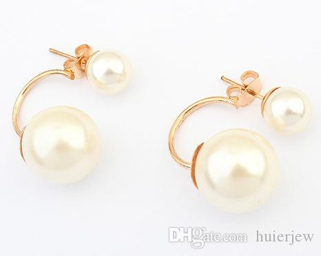 105698295 2019 Pearl Earings Fashion Jewelry Wholesale China Channel Jewelry Korean  Double Pearls Earrings Bridal Gold Earrings Big Candy Ball Stud Earings  From ...