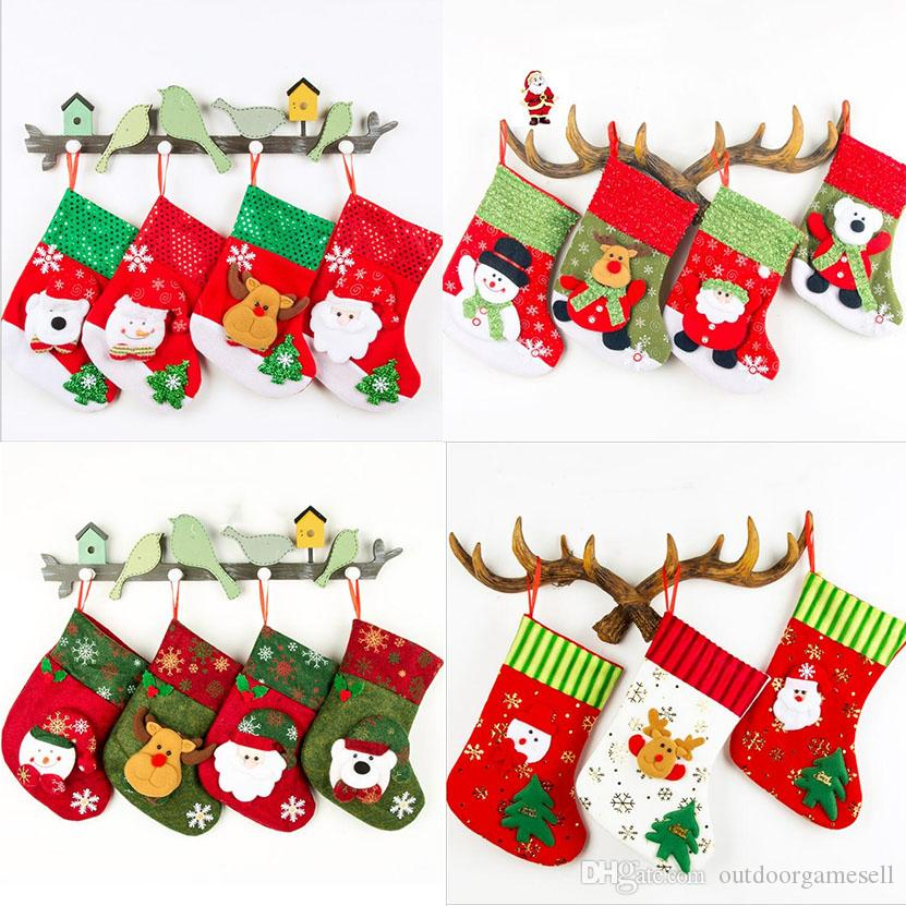 medium christmas socks gift bags top quality christmas decorations candy bags decorated 2018 christmas gifts packages factory price free christmas gifts