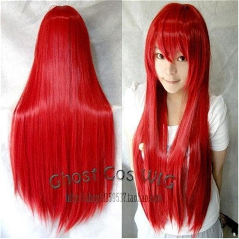 31.5 `` women synthetic wigs heat resistant Pink Brown Black Blue Red Yellow white Blonde Green straight cosplay wigs