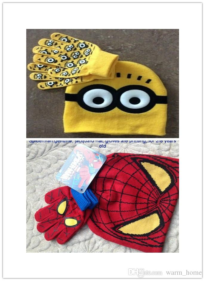 Compre Los Sombreros De Las Lanas De Minion Del Hombre Araña ...
