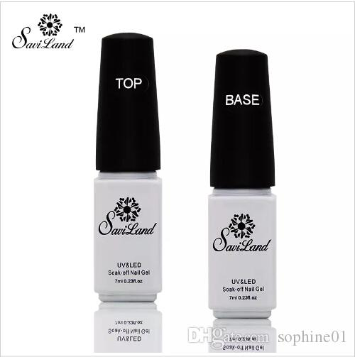 2pcs Non-cleaning Base and Top Coat for UV Gel Polish Top Coat Top it off Nail Lacquer Foundation Nails Glue