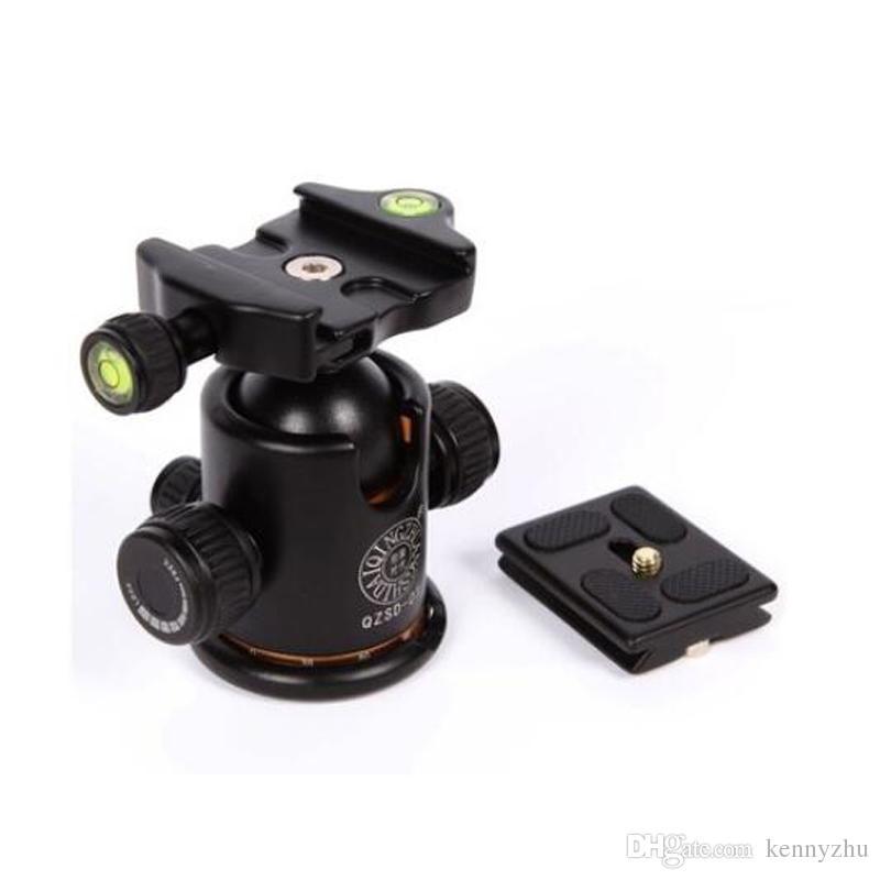 Pro Camera Tripod Ball Head Quick Release Plate Panoramic Swivel Ballhead Q-03 With Dual Bubble Level QZSD-03 For DSLR Canon Nikon