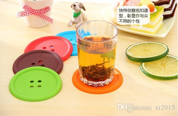 Silicone Button Coasters Cup Coaster Table Tea Mug Cushion placemat Cup Coaster Mat Pad Drinks holders