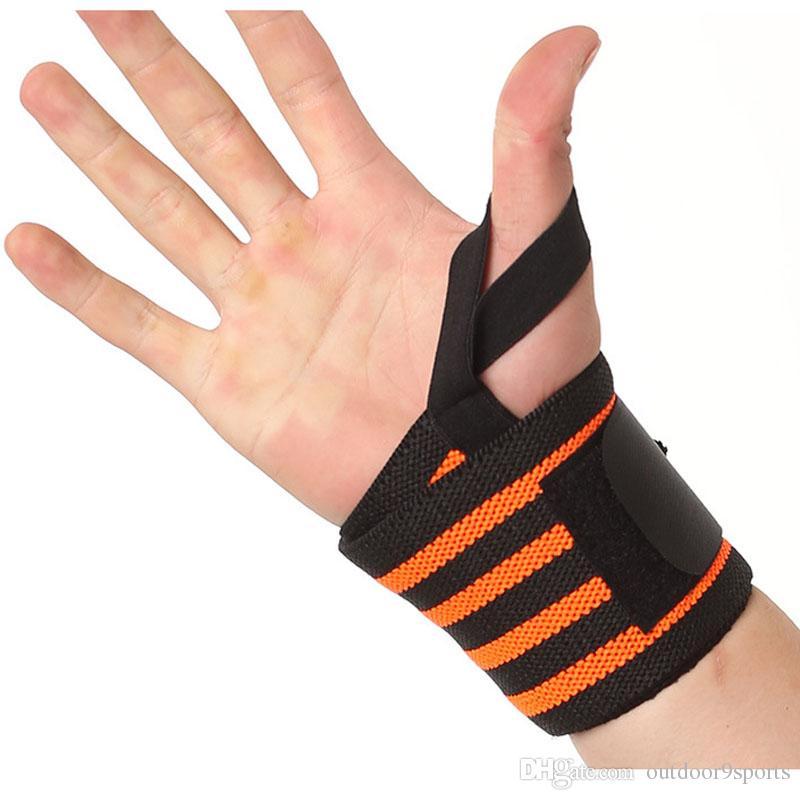 New Weight Lifting Protective Sport Wristband Gym Wrist Brace Thumb Support Strap Wraps Bandage Fitness Training Safety Bandage Sports Wrist