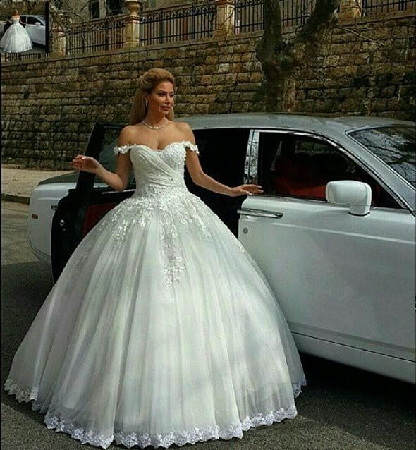 Empire Ball Gown Wedding Dresses: 2016 Romantic Puffy Tulles Ball Gown Wedding Dresses