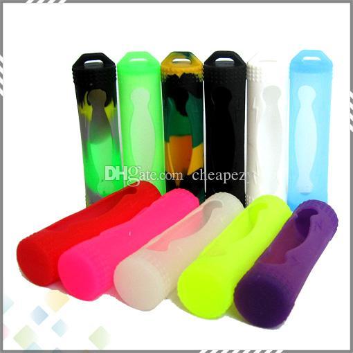 18650 Batterie-Silikon-Hülle-Schutz-Silikon-Taschen-Taschenkasten Bunt für Batterie Sony Samsung VTC4 VTC5 LG HE4 Panason Mod Batterie