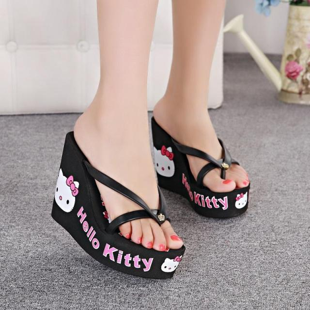 Black hello kitty high heels images for H m bedroom slippers