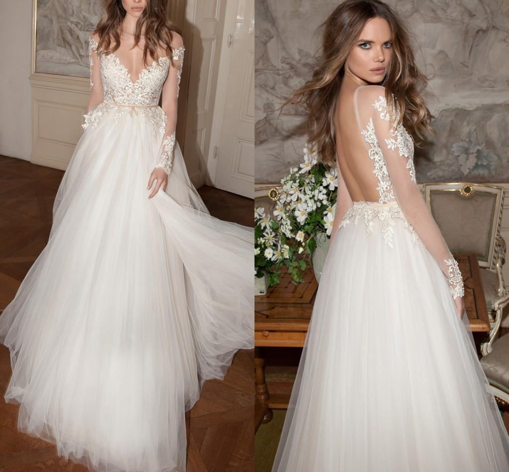 Zuhair murad berta fall 2015 wedding dresses with long sleeves zuhair murad berta fall 2015 wedding dresses with long sleeves appliqued tulle ball gowns sheer neck backless floor length bridal gown off the rack wedding ombrellifo Gallery