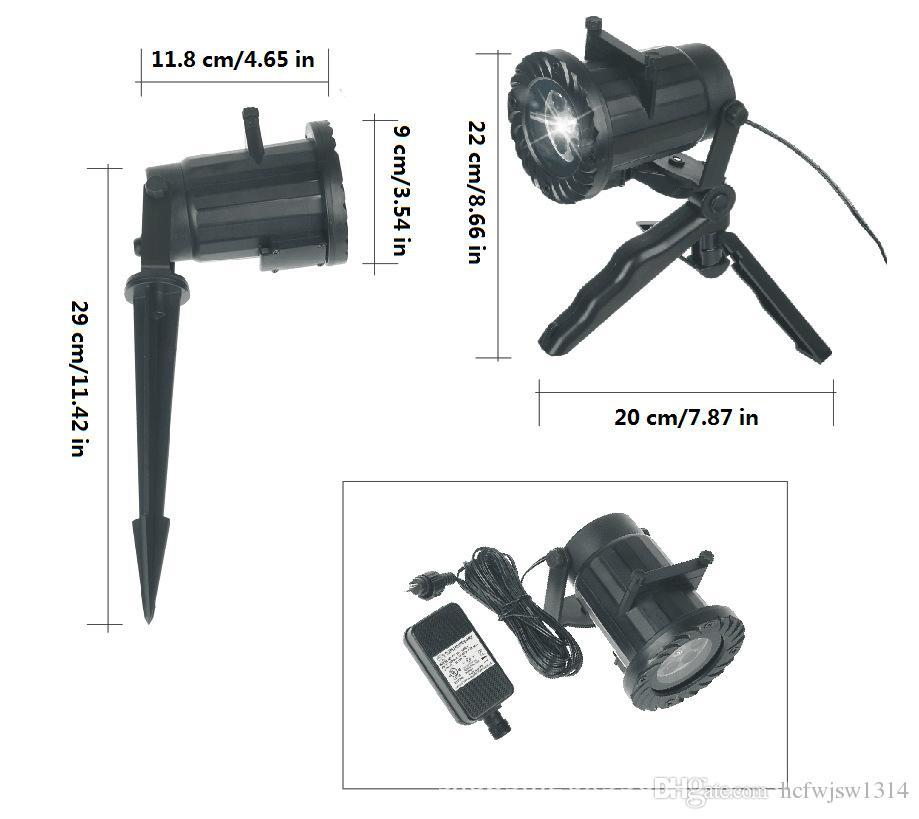 Modello a 15 film personalizzato lampada proiettore a led esterni con telecomando senza fili