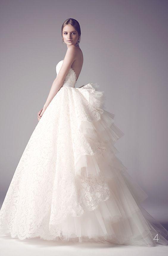 Princesse Dentelle Robes De Mariée Chérie Puffy Tulle Volants Robes De Mariée Sur Mesure Longueur De Plancher Ouvert Retour Robes De Mariée