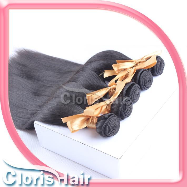 "Thick End Brazilian Hair Straight Cheap Unprocessed Hair Extensions 100% Remi Human Hair Weave Bundles Deals Wholesale 10-28"" 1b"