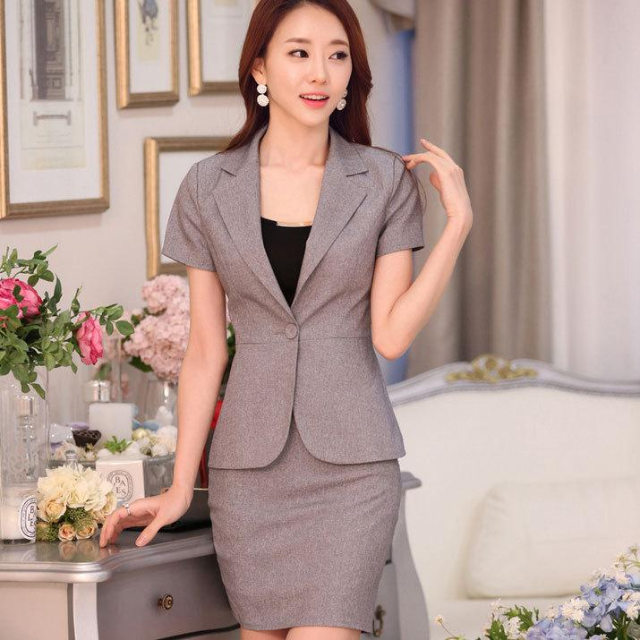 Summer style office uniform designs women work wear new for Office uniform design 2014