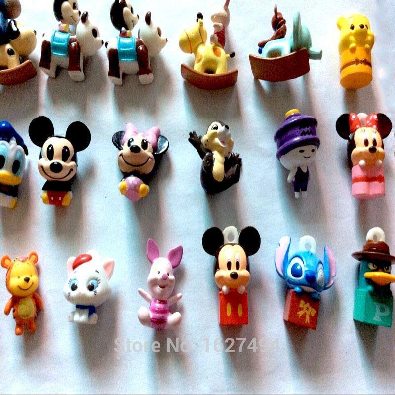 Mickey Minnie Mouse Pvc Miniature Action Figures Stikeez Cheap Anime ...
