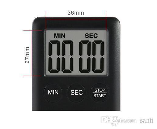 2 Farben Platz Große LCD Digital Küche Timer Kochen Timer Wecker Magnet Despertador Digitale Tischuhr Temporizador Bar Timer