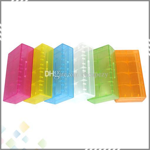 Draagbare 18650 Batterij Opbergdoos Plastic Batterijcase Opslag Container Pack 2 * 18650 of 4 * 18350 CR123A 16340 Batterij DHL GRATIS