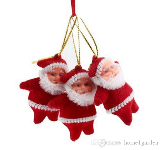 Christmas Tree Decorations Mini Santa Claus Christmas Ornaments for Tree Hanging Accessories Ornaments for Home