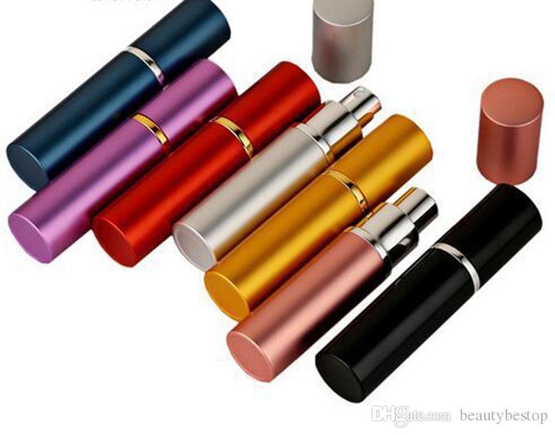 Kozmetik için Sıcak Satış 5ml Mini Taşınabilir Doldurulabilir Parfüm Alüminyum Atomizer Sprey Şişe Gezgin Boş Şişeler