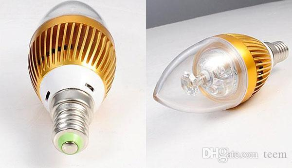 Le moins cher !! 6W CREE LED bougie ampoule E14 E27 lampe haute puissance led downlight led down lampes lustre éclairage 220-240V + CE ROHS X50