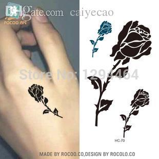 Acheter Gros Hc1070 Petit Rose Tatouages Main Etanche Tatouage