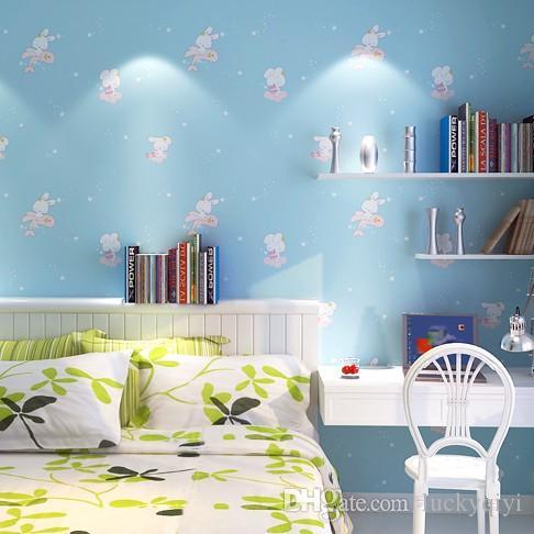 Großhandel Neue Kid Baby Kinderzimmer Vlies Tv Zurück Tapete Bunny ...