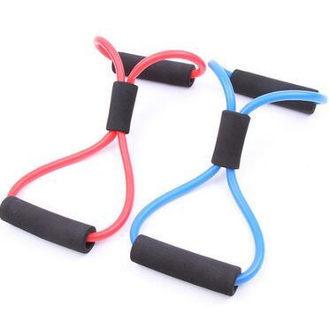Fashion Hot Resistance Training Bands Tube Workout Exercise for Yoga 8 Type Fashion Body Building Fitness Equipment Tool
