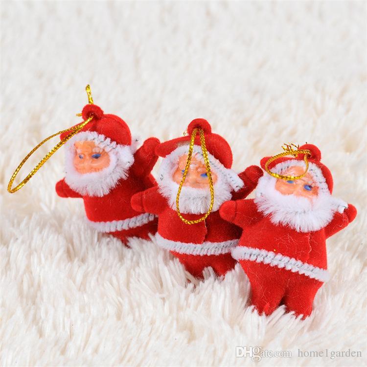 홈 액세서리 장식품 매달려 를 / 트리에 대한 부지 크리스마스 트리 장식 미니 산타 클로스 크리스마스 장식품