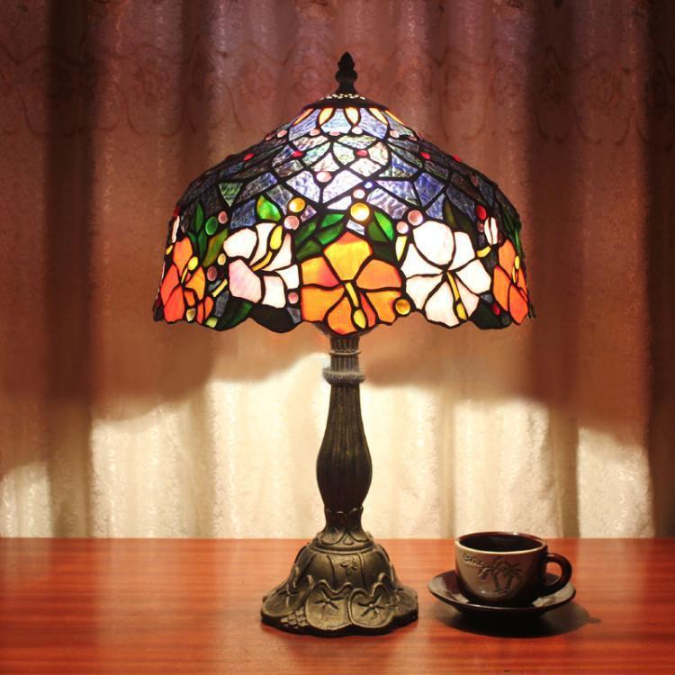 Lamparas Color Glass Led Table Lamp Hand Made Tiffany Desk: 2017 Table Lamp Tiffany European Vintage Creative Arts