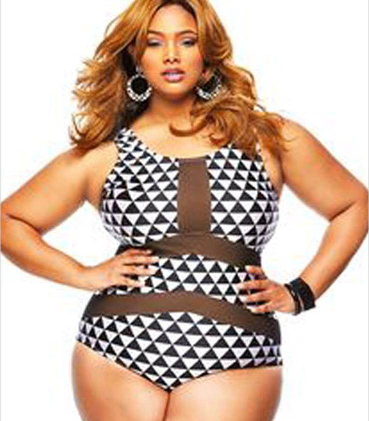2018 bodysuit women 2016 plus size swimwear mesh insert trigon