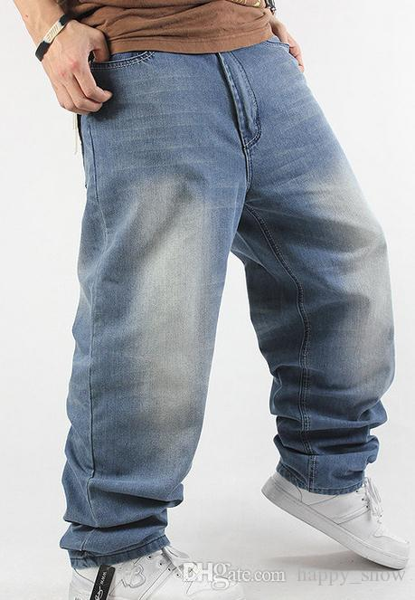Новый 2015 мода человек свободные джинсы хип-хоп скейтборд джинсы мешковатые брюки джинсовые брюки хип-хоп мужские брюки джинсы 4 сезона большой размер 30-44