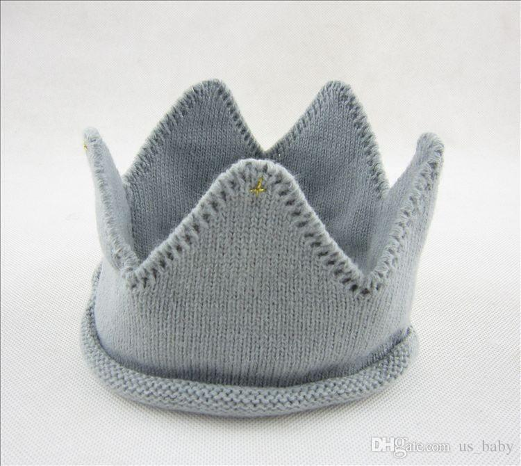 Baby girl Crown Caps Fashion kids boy Soft Knitted Hats Lovely Baby Funny Birthday Hat Kids Gift