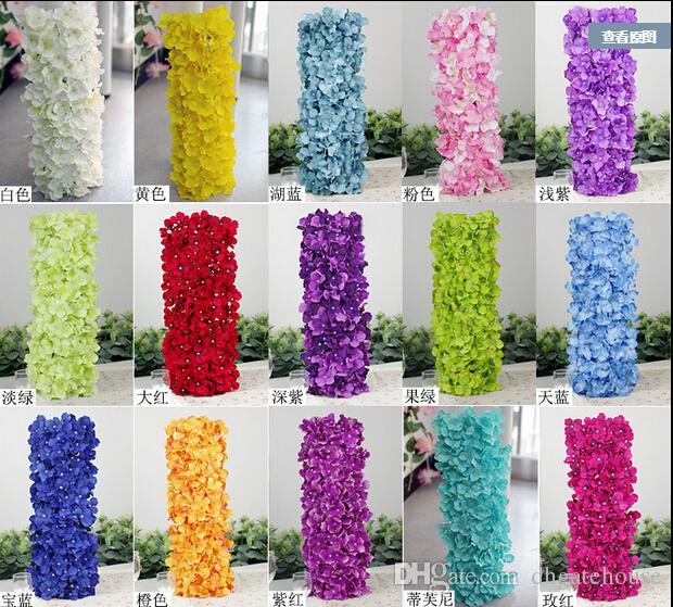 Artificial Hydragea Flower Garlands 4820cm Fake Hydrangeas Floral