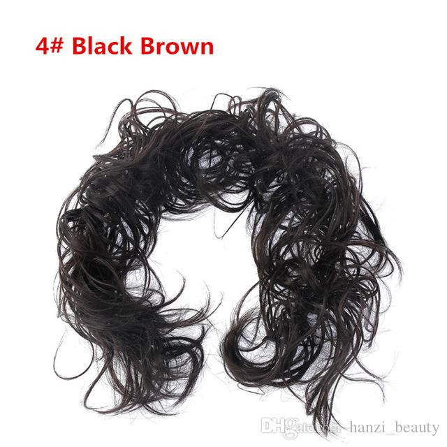 Laços de cabelo de Fibra Sintética de Alta Temperatura Encaracolado Scrunchie Cabelo Bang Rabo De Cavalo Multi-way Updo cabelo Acessórios