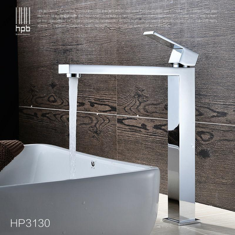 Best Hpb Brass High Body Basin Faucet Hot And Cold Water Single ...