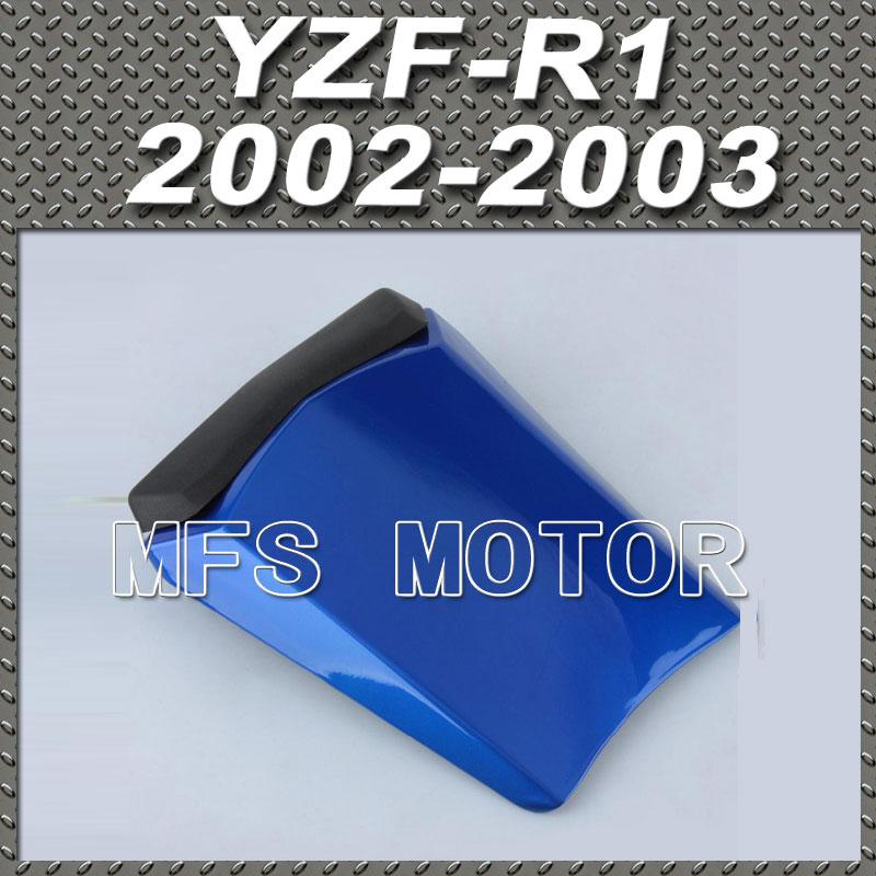 For YZF-R1 Motorcycle Rear Pillion All Blue Injection ABS Seat Cowl Cover For Yamaha YZF-R1 2002-2003