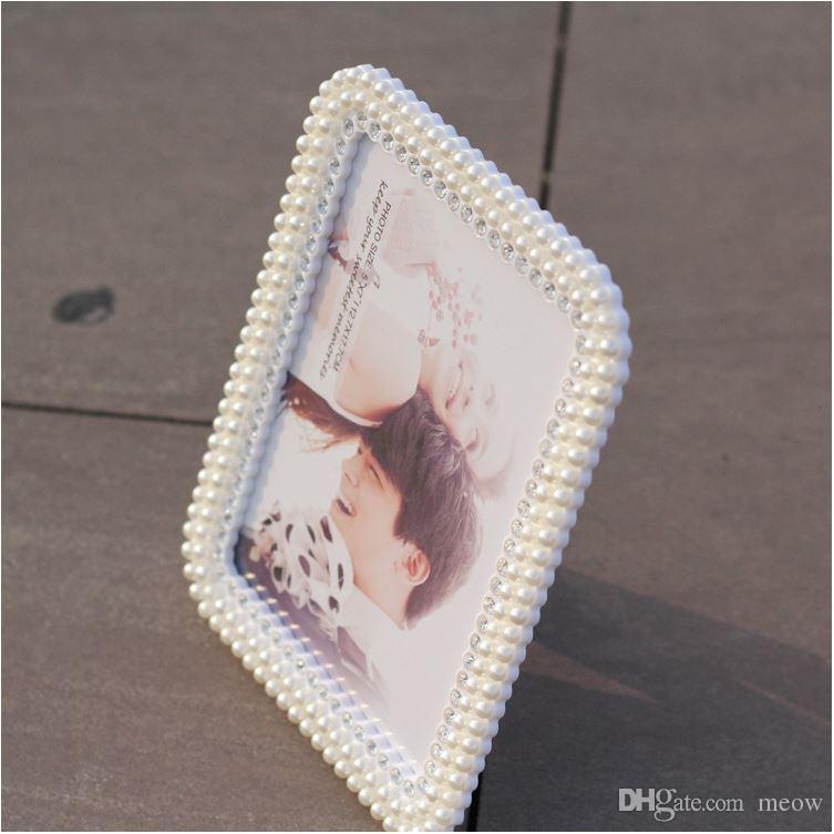 Pearl Ramka na zdjęcia Handmade Crystal Diament Rhinestone Studio Ramki Dekoracja Ramki 5