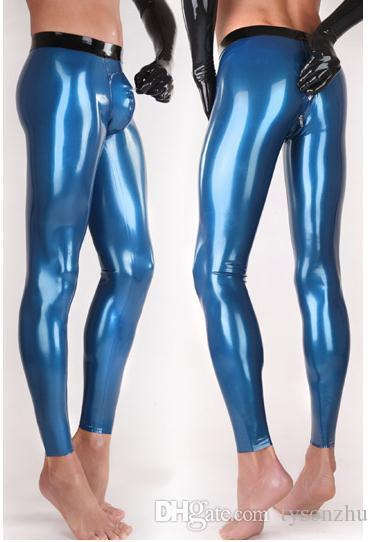 2018 Latex Pants Rubber Leggings Mens Latex Trousers Crotch Zipper Two Way Zip From Tysonzhu 86 3 Dhgate Com