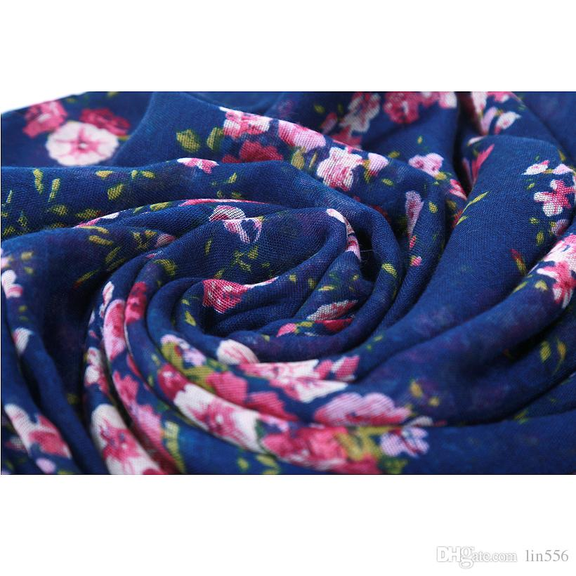 Hot Sale New Fashion Warm Women Flower Loop Scarf Female Small Rose Print Ring Scarves Infinity Shawl Wrap