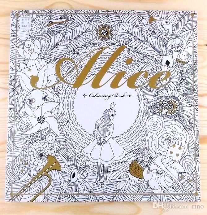Adult Paper Colouring Book Alice In Wonderland