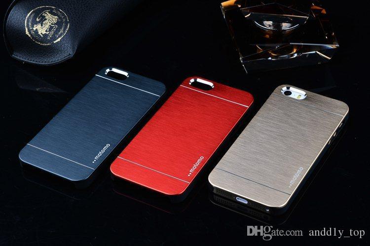 Custodia protettiva in gomma ibrida moto in lega di alluminio spazzolato MOTOMO iPhone 6 6G Air 4.7 5.5 Plus Samsung Galaxy S3 S4 S5 Note 2 3
